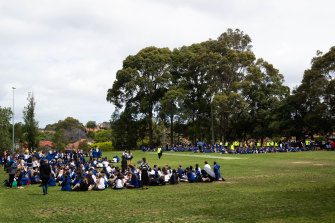 Willoughby Girls High was among the schools affected on Tuesday.