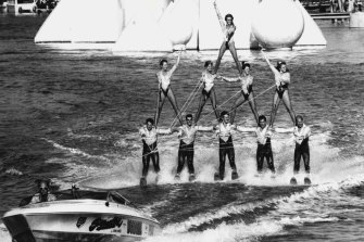 Water skiing prowess on display at World Expo '88.