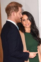 Meghan says she has found the relentless tabloid scrutiny challenging.