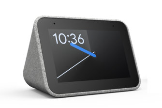 The Lenovo smart alarm clock.