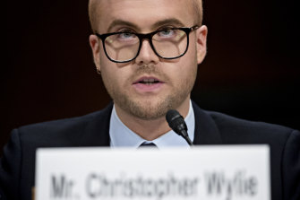 Christopher Wylie testifies to the United States Senate Senate Judiciary Committee in May last year.