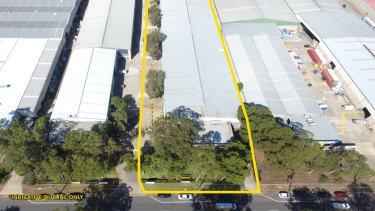 Goodman Group's Woodpark Industrial Estate in Smithfield's industrial precinct, Sydney.