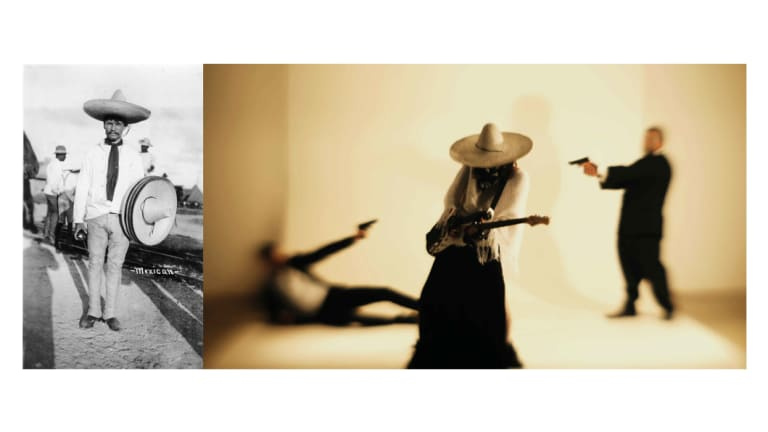 Diego Ramirez, <i>Postcard eXotica</i>, 2016/18, video still in <i>Postcard eXotica</i> at PhotoAccess.