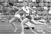 East Germany's Renate Stecher, left, just edges out Australia's Raelene Boyle to win the Olympic 200m crown in Munich.