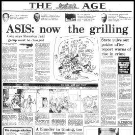 From the Archives, 1983: ASIS botches training drill at the Sheraton Hotel