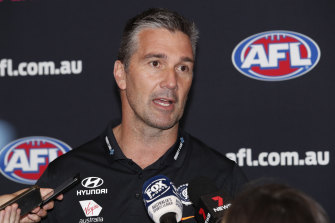 Nick Austin steps into the role previously held by club legend Steve Silvagni (pictured).