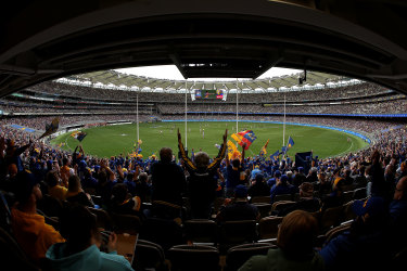 Optus Stadium may be the last venue standing come September, with the AFL Grand Final likely to be held if 60,000 supporters can enter the venue for the 2021 decider.
