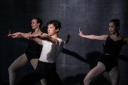 The Australian Ballet's Amber Scott, Chengwu Gao and Ako Kondo.