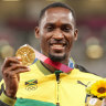 A stranger helped a Jamaican athlete make his Olympic race. He won gold and tracked her down