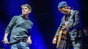 A-ha's lead singer Morten Harket (left) and guitarist Paul Waaktaar-Savoy.