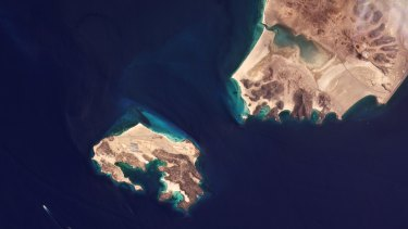 Yemen's Mayun Island in the Bab el-Mandeb Strait.