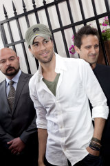 Enrique Iglesias at the Emirates Marquee in 2010.