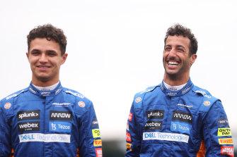 McLaren teammates Lando Norris and Daniel Ricciardo.