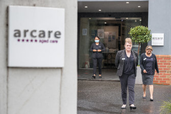 Arcare Maidstone had a coronavirus outbreak last month. It spread to 10 people, but was brought under control. Jennifer Henare (centre with fellow staff members Debbie Pyster and Marlene Desouza) is the home's manager.
