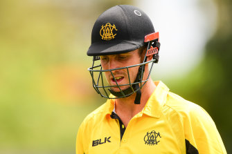 Mitch Marsh isn't yet able to bowl as he recovers from a broken wrist.