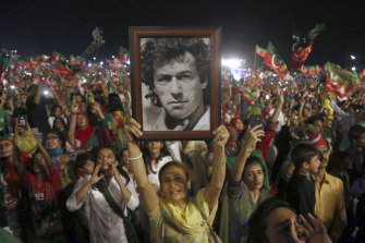 The Pakistan Prime Minister - celebrated by suporters in 2018 - has attracted criticism for recent comments about women.