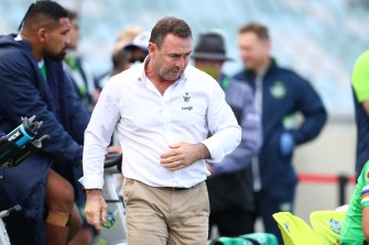 Raiders coach Ricky Stuart was furious despite his side's come-from-behind win.
