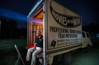 Rick Wynne-Yorke at the Mount Evelyn cricket club movie night.
