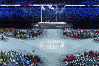 Sunday's closing ceremony in Tokyo.