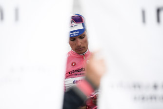Joao Almeida was still in pink after stage 11 of the Giro.