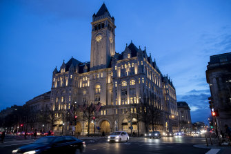 The Trump International Hotel near Sunset in Washington DC.