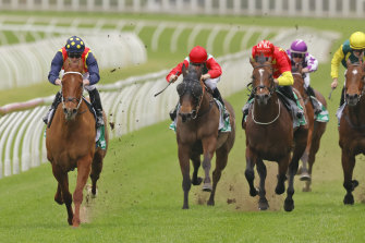 Nature Strip laid down an Everest marker with an easy win in the Concorde Stakes on Saturday.