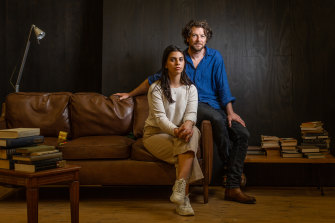 Dan Speilman and Izabella Yena in the MTC production of Sexual Misconduct of the Middle Classes.