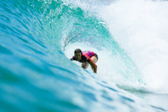 Fitzgibbons in action last month in California.
