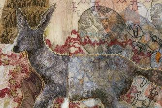 Mehwish Iqbal's 'Monster Within' (detail), 2019.