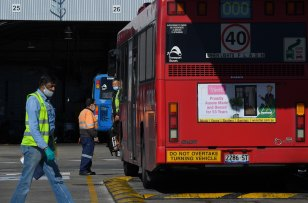 Close to 180 Sydney bus drivers say they will not return to work until the state government implements rapid antigen testing.