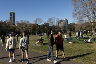 Rushcutters Bay under lockdown today.