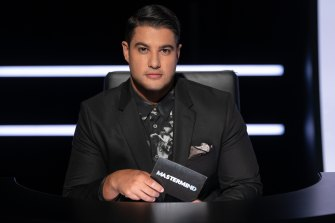 Fennell as host of <i>Mastermind</i> on SBS.
