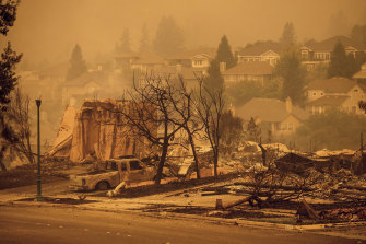 Numerous homes were levelled by the Glass Fire in Santa Rosa.