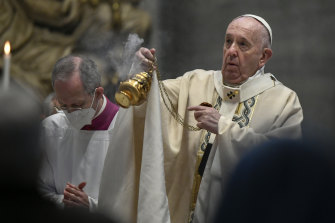 Pope Francis use his Easter sermon at St Peter's Basilica in the Vatican to call for fairer distribution of COVID vaccines.