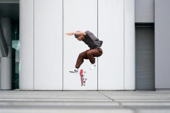 Issei Morinaka, a professional skateboarder in Tokyo.