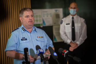 Victoria SES chief officer Tim Wiebusch and Emergency Management Commissioner Andrew Crisp provide an update on damage caused by the earthquake on Wednesday.