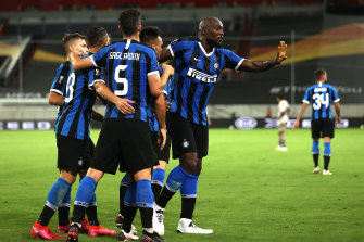 Romelu Lukaku also scored twice for Inter.