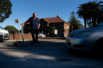 David Curtis is seeking compensation from Strathfield Council for damage to his car caused by a pothole.