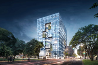The proposed development on the corner of Victoria Parade and Nicholson Street.