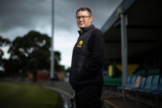 Hesitant: Leopold Football Club president Richard Hockley is not keen on returning to play without crowds.