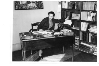 American Library in Paris director Dorothy Reeder in her office in 1937.