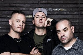 The Hilltop Hoods: Daniel Smith, Matthew Lambert and Barry Francis.