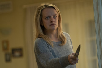 Elisabeth Moss in The Invisible Man, which topped the box office globally before COVID-19 prematurely ended its run.