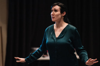 Kathryn Radcliffe in rehearsals for the Victorian Opera production of The Pearl Fishers.