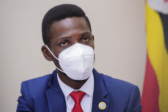 Bobi Wine, 38, is considered the frontrunner among 10 candidates challenging Museveni.