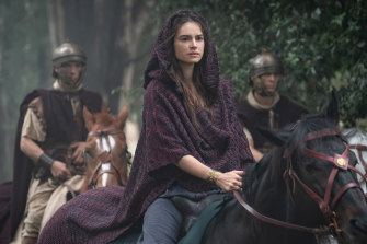 Kasia Smutniak as Livia Drusilla, the wife of Julius Caesar's adopted son, the emperor Augustus Caesar, in the sword and sandal epic Domina.