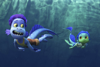 """Two sea monsters have to hide their true selves from nearby villagers in the animated film """"Luca""""."""