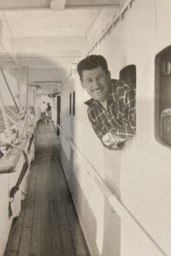 Holocaust survivor Eddie Jaku en route to Australia in 1950.