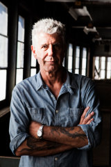 Anthony Bourdain on Pier 57 in New York, where he once hoped to open Bourdain Market.