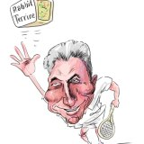 MCC president Michael Happell is not just a fan of cricket, but of Royal tennis.